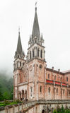 Basilica de Santa Maria in Spain, Covadonga Stock Images