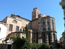 Basilica dei Frari (Frari Basilica). Sunny day in Venice, Italy Stock Photo