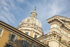 Basilica dei Santi Ambrogio e Carlo al Corso oder San Carlo al C Royalty Free Stock Images