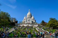Basilica del cuore sacro di Parigi Fotografia Stock