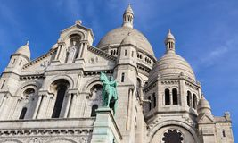 Basilica del cuore sacro Sacre Coeur a Parigi Francia Aprile 2019 fotografia stock