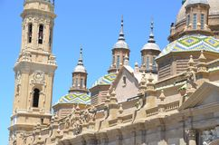 Basilica del pilar Stock Image