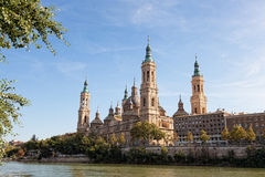 Basilica Del Pilar in Zaragoza Royalty Free Stock Images