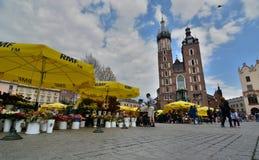 Basilica del ` s di St Mary Quadrato del mercato cracovia poland Fotografia Stock Libera da Diritti
