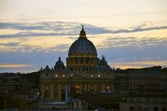 Basilica del ` s di St Peter, Roma Fotografia Stock Libera da Diritti