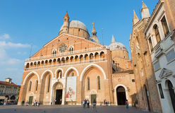 Basilica del Santo or Basilica of Saint Anthony of Padova in evening. Royalty Free Stock Photos