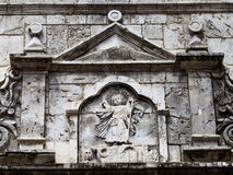 Basilica del Santo Nino. Cebu, Philippines. Wall in the courtyard of the old catholic church of the Basilica del Santo Nino. Cebu, Philippines royalty free stock photography
