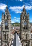 Basilica del Vote Nacional à Quito, Equateur Photos libres de droits