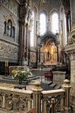 Basilica dell'altare di Notre Dame de Fourvière Immagine Stock Libera da Diritti