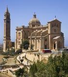 Basilica dell'AT Pinu - Gozo - Malta immagine stock