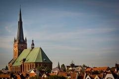 Basilica della cattedrale di St James l'apostolo, Szczecin immagini stock