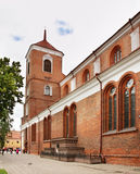 Basilica della cattedrale di St Peter e di St Paul a Kaunas lithuania Fotografie Stock Libere da Diritti