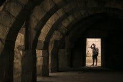 Basilica della città antica dell'agora Immagine Stock