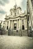 The Basilica della Collegiata, Catania. Italy Stock Photography