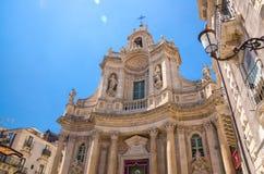 Basilica della Collegiata church Santa Maria, Catania, Sicily, I stock photos