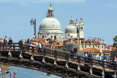 basilica della di玛丽亚致敬圣诞老人威尼斯 免版税库存图片