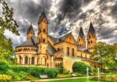 Basilica della macchina per colata continua della st in Coblence Fotografia Stock Libera da Diritti