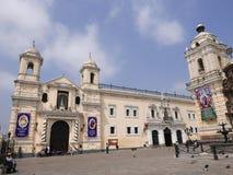 Basilica della nostra signora del rosario e del San Francisco Monastery a Lima Immagine Stock