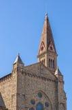 Basilica della novella della Santa Maria Vista dalla stazione ferroviaria Fotografia Stock