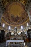 Interior of the Basilica della Santissima Annunziata in Florence. The Basilica della Santissima Annunziata Basilica of the Most Holy Annunciation is a Roman Stock Photography