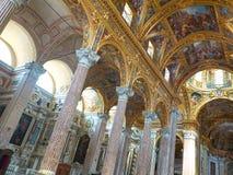 Basilica della Santissima Annunziata del Vastato of Genova. Italy. Genova, Italy - July 27, 2016. Inside of Basilica della Santissima Annunziata del Vastato of royalty free stock photo