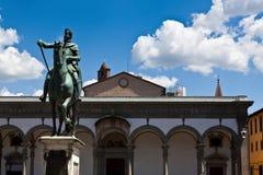 Basilica della Santissima Annunziata, Florence, Italy stock photo