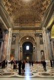 Basilica della st Peter, quadrato della st Peter, Città del Vaticano Fotografie Stock Libere da Diritti