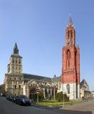 Basilica della st Servatius, chiesa dello St Johns, Maastricht Fotografia Stock Libera da Diritti