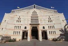 Basilica della vista del frontale di annuncio fotografia stock