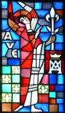Basilica delle finestre di vetro macchiato del Notre-Dame-du-cappuccio Immagine Stock