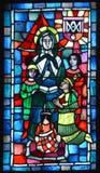 Basilica delle finestre di vetro macchiato del Notre-Dame-du-cappuccio Immagine Stock Libera da Diritti