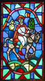 Basilica delle finestre di vetro macchiato del Notre-Dame-du-cappuccio Fotografia Stock