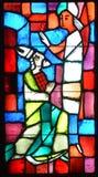 Basilica delle finestre di vetro macchiato del Notre-Dame-du-cappuccio Fotografia Stock Libera da Diritti