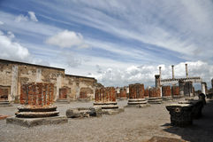 Basilica in destroyed Pompeii Royalty Free Stock Photo