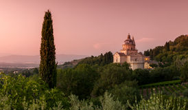 basilica di圣・ Biagio,托斯卡纳,意大利 免版税库存图片