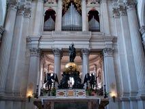 Basilica di圣乔治Maggiore内部  免版税图库摄影