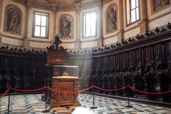 Basilica di圣乔治Maggiore内部  图库摄影