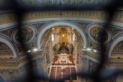 Basilica di圣使的罗马,意大利惊奇彼得罗梵蒂冈 库存照片