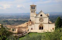 Basilica di圣弗朗切斯科,阿西西,佩鲁贾 免版税图库摄影