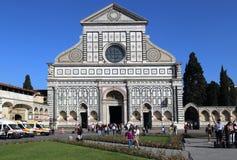 Basilica di圣诞老人Novella教会在佛罗伦萨,意大利 库存照片