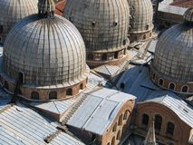 basilica di圣Marco,威尼斯, Roofscape 免版税库存照片