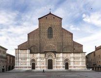 Basilica di广场的波隆纳Maggiore圣Petronio,意大利 免版税图库摄影