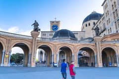 Basilica di Aparecida - santuario nazionale fotografia stock