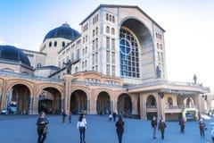 Basilica di Aparecida - santuario nazionale fotografie stock
