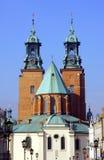 Basilica di Archicathedral in Gniezno Fotografia Stock Libera da Diritti