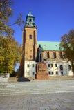 Basilica di Archicathedral in Gniezno Fotografie Stock