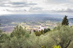 Basilica di Assisi royalty free stock photography