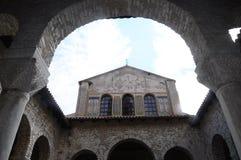 Basilica di Euphrasian in Porec, Croazia Immagini Stock