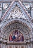 basilica di facade圣诞老人 图库摄影