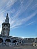 Basilica di Lourdes immagini stock